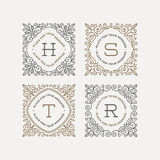 Set of monogram logo template Royalty Free Stock Photography
