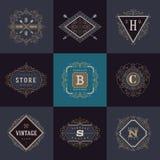 Set monograma logo Obraz Stock