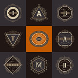 Set monograma logo ilustracja wektor