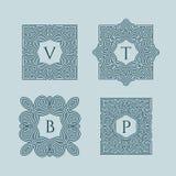 Set of monograms Stock Photos
