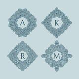 Set of monograms Stock Image
