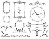 Set monograms Royalty Free Stock Photo
