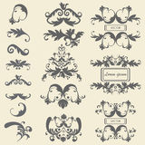 Set monograms, floral ornaments baroque style Royalty Free Stock Photo