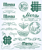 Set monograms Stock Image