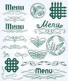 Set monograms Stock Image