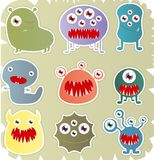 Set Of Monster Stock Image