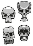 Set of monster skull mascots Royalty Free Stock Photo