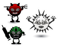Set monster virus Royalty Free Stock Photo