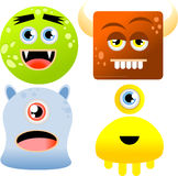 Set of monsters Stock Photo