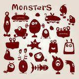 Set of monsters Royalty Free Stock Photos