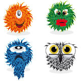 Set of monsters Stock Photography