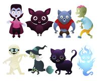 Set of monsters. Isolated on white background. Vector illustration vector illustration