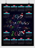 Beautiful new year calendar 2019. design with space for your notes and date. vector illustration