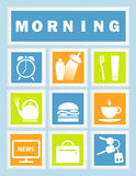Set 9 Morning Icons Stock Image
