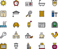 Set of morning related icons Royalty Free Stock Photography