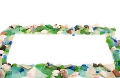Set morze łuska na starym drewnianym tle Obraz Stock