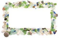 Set morze łuska na starym drewnianym tle Zdjęcia Royalty Free