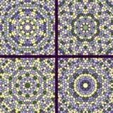 Set of mosaic background Stock Image