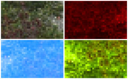 Set of mosaic backgrounds Royalty Free Stock Images