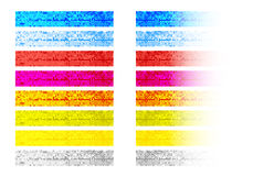 Set of mosaic banners Royalty Free Stock Images