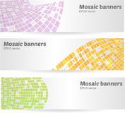 Set of mosaic banners Stock Images