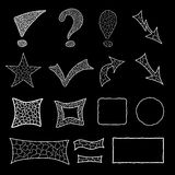 Set of mosaic doodle elements Stock Photography
