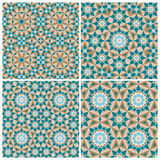 Set of mosaic patterns Stock Photography