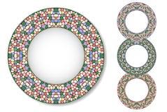 Set of mosaic plates Stock Photos