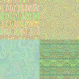 Set of mosaic seamless patterns Stock Photos