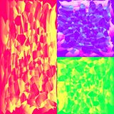A set of mosaic textures for the image of the sky or sunset. vector illustration