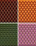 Set Mosaikfliesehintergrund der Weinlese bunter. Lizenzfreie Stockbilder