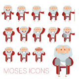 Set of Moses icons Stock Photo