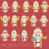 Set of Moses icons2 Royalty Free Stock Image