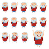 Set of Moses icons3 Stock Photography