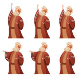 Set of Moses icons Royalty Free Stock Photos