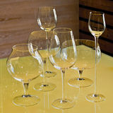 Set of mosler wine glasses Stock Image