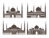 Set of Mosque or Masjid Elements  Stock Photo