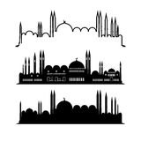 Set of mosque sketches. Vector city design Stock Photography