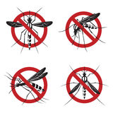 Set of mosquito sign Stock Images