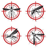 Set of mosquito sign Stock Photo