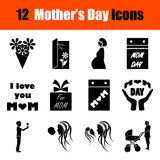 Set of Mother's day icons Royalty Free Stock Image