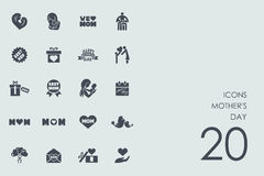 Set of mother`s day icons Stock Photos