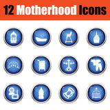Set of motherhood icons. Stock Images