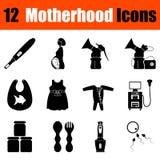 Set of motherhood icons Royalty Free Stock Photography