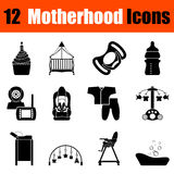 Set of motherhood icons Royalty Free Stock Images
