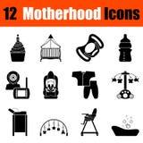 Set of motherhood icons Royalty Free Stock Images
