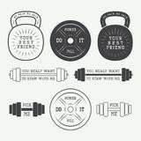 Set of motivation logos, labels and slogans Stock Image