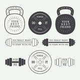 Set of motivation logos, labels and slogans Stock Image