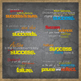 Set of motivational background. S. Eight motivational retro posters Royalty Free Stock Photo