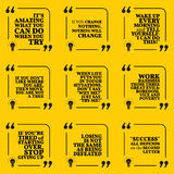 Set of motivational quotes Royalty Free Stock Photo